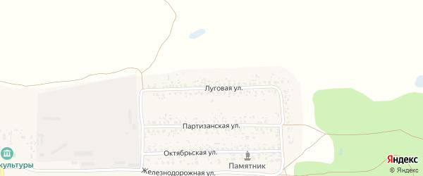 Луговая улица на карте поселка Вышкова с номерами домов