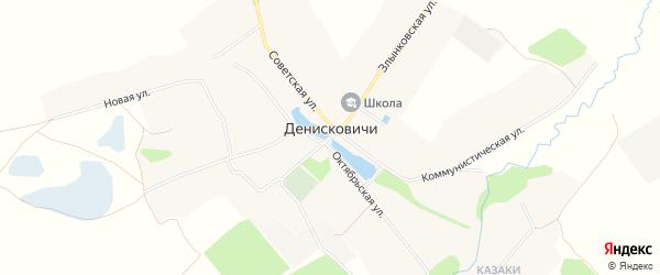 Карта села Денисковичи в Брянской области с улицами и номерами домов