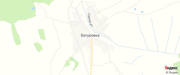 Карта деревни Батуровки в Брянской области с улицами и номерами домов