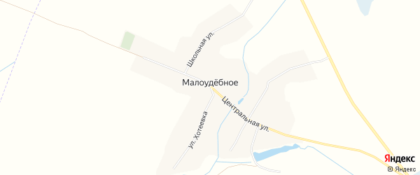 Карта деревни Малоудебного в Брянской области с улицами и номерами домов
