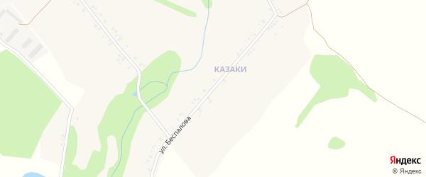 Улица Беспалова на карте села Денисковичи с номерами домов