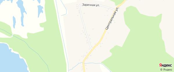Заречная улица на карте села Кожаны с номерами домов