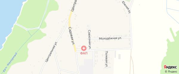 Совхозная улица на карте села Кожаны с номерами домов