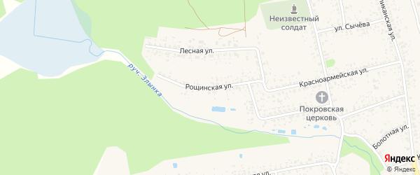 Рощинская улица на карте Злынки с номерами домов