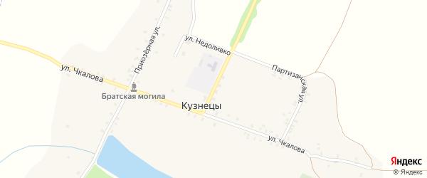 Улица Недоливко на карте села Кузнецы с номерами домов