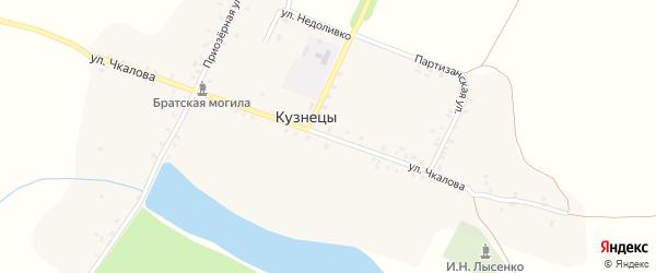 Улица Чкалова на карте села Кузнецы с номерами домов