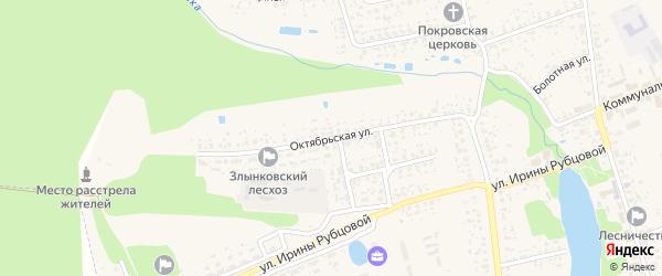 Октябрьская улица на карте Злынки с номерами домов