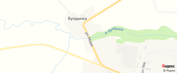 Улица Мира на карте хутора Булдынки с номерами домов