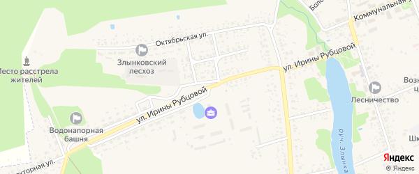 Улица Ирины Рубцовой на карте Злынки с номерами домов