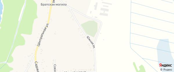 Южная улица на карте села Кожаны с номерами домов