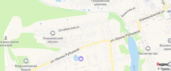 Октябрьский переулок на карте Злынки с номерами домов