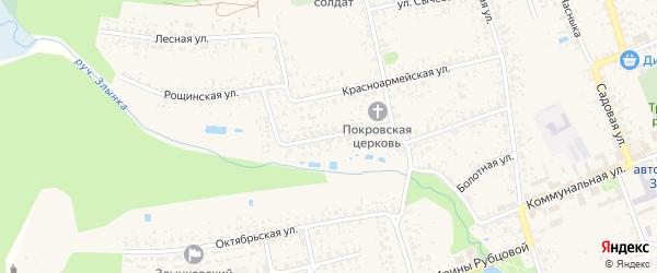 Заречная улица на карте Злынки с номерами домов