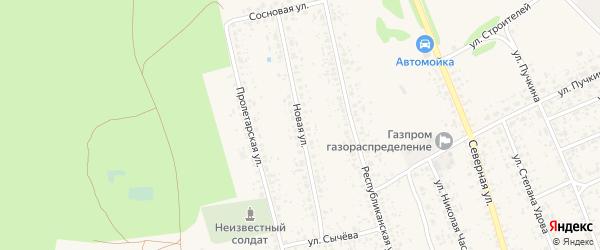 Новая улица на карте Злынки с номерами домов