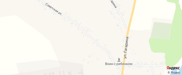 Советская улица на карте села Новые Бобовичи с номерами домов