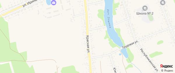 Красная улица на карте Злынки с номерами домов