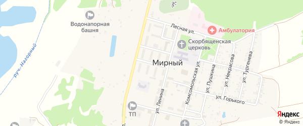 Улица Классона на карте Мирного поселка с номерами домов