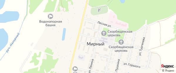 Улица 30 лет Победы на карте Мирного поселка с номерами домов