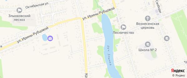 Озерный переулок на карте Злынки с номерами домов