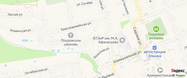 Улица Орджоникидзе на карте Злынки с номерами домов