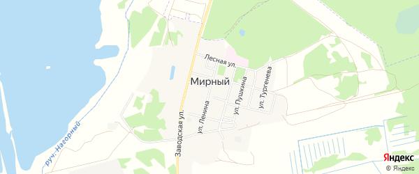 Карта Мирного поселка в Брянской области с улицами и номерами домов