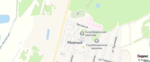 Юбилейная улица на карте Мирного поселка с номерами домов