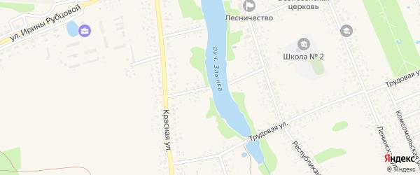 Красный переулок на карте Злынки с номерами домов