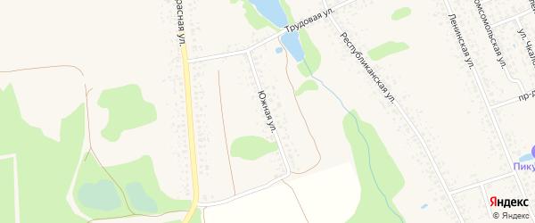 Южная улица на карте Злынки с номерами домов