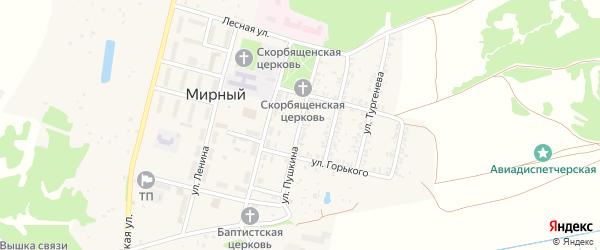 Улица Пушкина на карте Мирного поселка с номерами домов