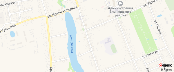 Республиканская улица на карте Злынки с номерами домов