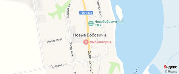Лесной переулок на карте села Новые Бобовичи с номерами домов