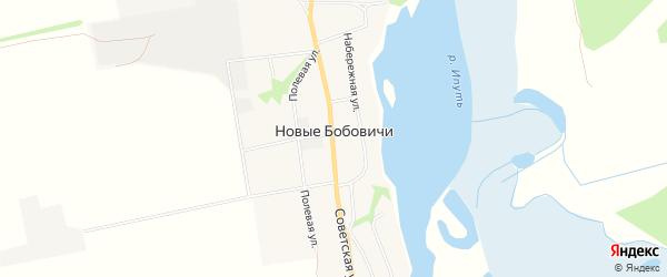 Карта села Новые Бобовичи в Брянской области с улицами и номерами домов