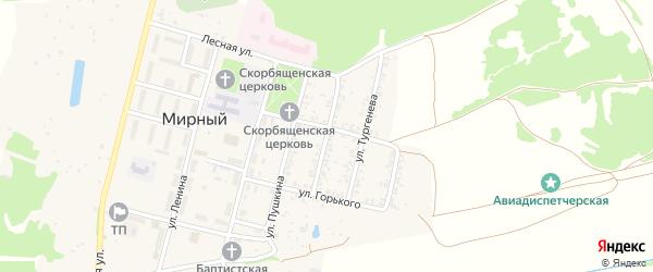 Улица Некрасова на карте Мирного поселка с номерами домов
