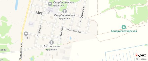 Улица Горького на карте Мирного поселка с номерами домов
