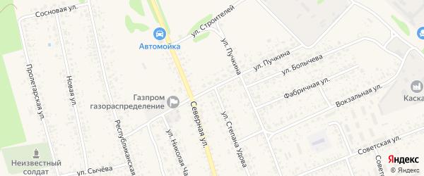 Улица Пучкина на карте Злынки с номерами домов