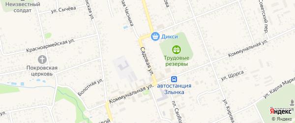 Садовая улица на карте Злынки с номерами домов
