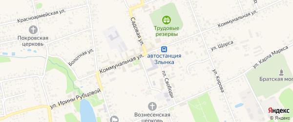 Полевая улица на карте Злынки с номерами домов