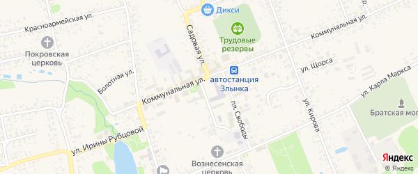 Улица Строителей на карте Злынки с номерами домов