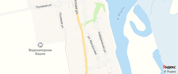 Улица Матросова на карте села Новые Бобовичи с номерами домов