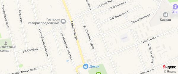 Улица Степана Удова на карте Злынки с номерами домов