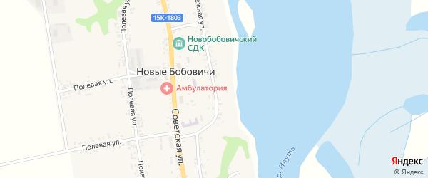 Набережная улица на карте села Новые Бобовичи с номерами домов