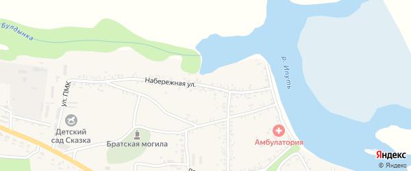 Набережная улица на карте села Старых Бобовичей с номерами домов