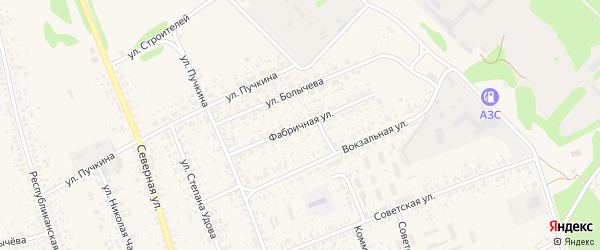 Фабричная улица на карте Злынки с номерами домов