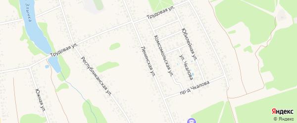 Ленинская улица на карте Злынки с номерами домов