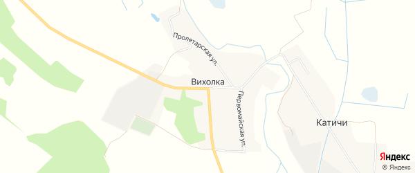 Карта села Вихолки в Брянской области с улицами и номерами домов