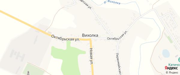 Заречная улица на карте села Вихолки с номерами домов