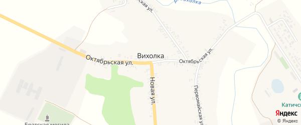 Октябрьская улица на карте села Вихолки с номерами домов