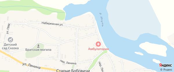 Набережный переулок на карте села Старых Бобовичей с номерами домов