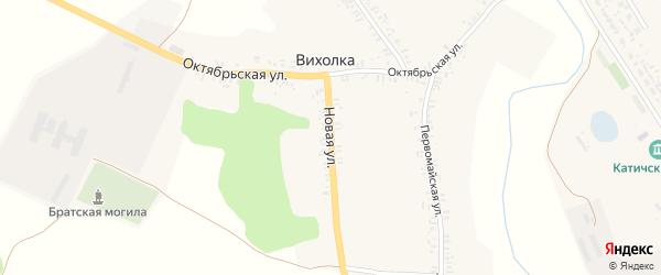 Новая улица на карте села Вихолки с номерами домов