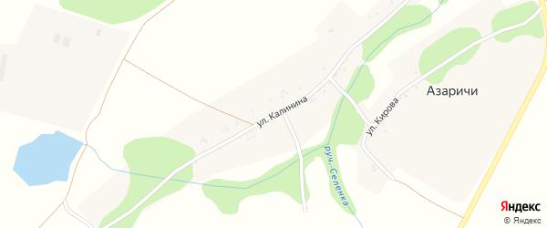 Улица Калинина на карте села Азаричи с номерами домов