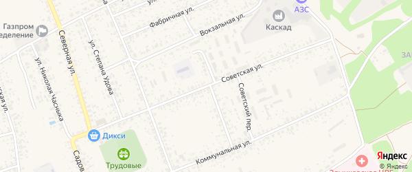Советская улица на карте Злынки с номерами домов
